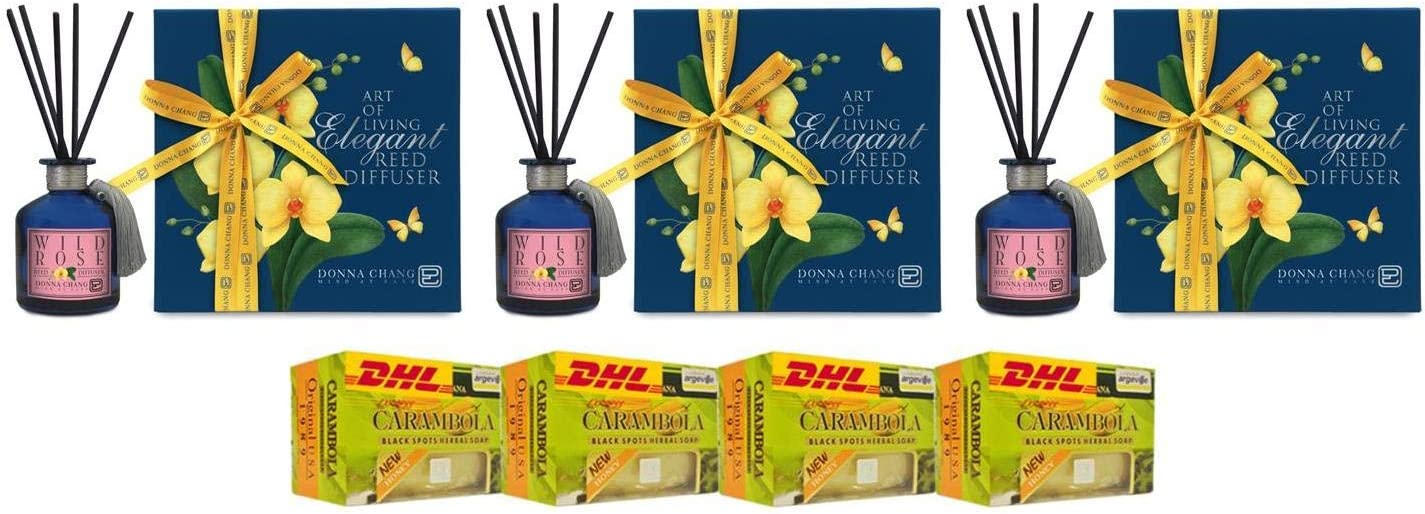 Donna Chang Organic Spa cheap Extra Set DHL Diffuser by National uniform free shipping Wild Reed Rose