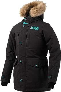 FXR Womens Svalbard Parka 2020 (Black/Mint - Size 6)