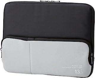 エレコム パソコンケース 13.3インチ (macbook pro 13) 小物収納ポケット付 ブラック BM-IBPT13BK
