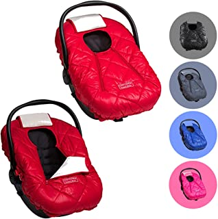 Cozy Cover Premium Infant Car Seat Cover (Red) with Polar Fleece - The Industry Leading Infant Carrier Cover Trusted by Over 6 Million Moms for Keeping Your Baby Warm