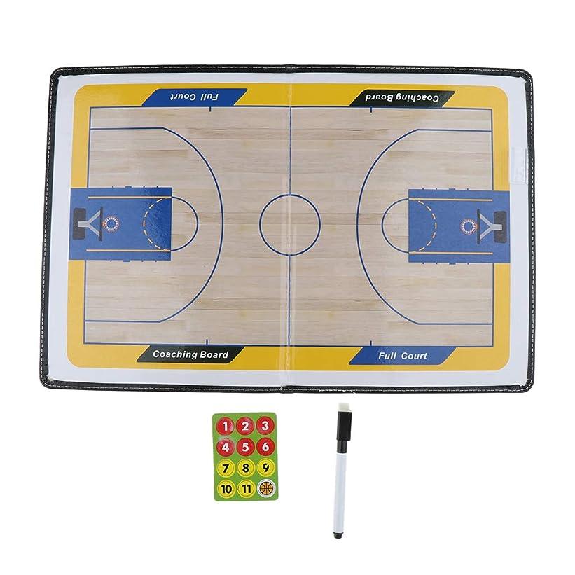 独立してキャンプ減衰DYNWAVE 人工皮革 作戦板 バスケットボール 作戦ボード マグネット コーチングボード コーチ戦略指導 軽量
