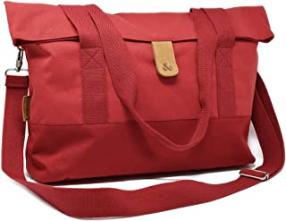 Amber & Ash Everyday Foldover Tote - Water Resistant, Soft Laptop Bag - Pink