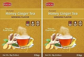 POCAS HONEY GINGER TEA GINSENG FLAVOR 40 BAGS