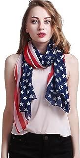 Vintage American Flag Scarf,Unisex Fashion Infinity Shawl,Fashion Soft Silk Chiffon Scarf