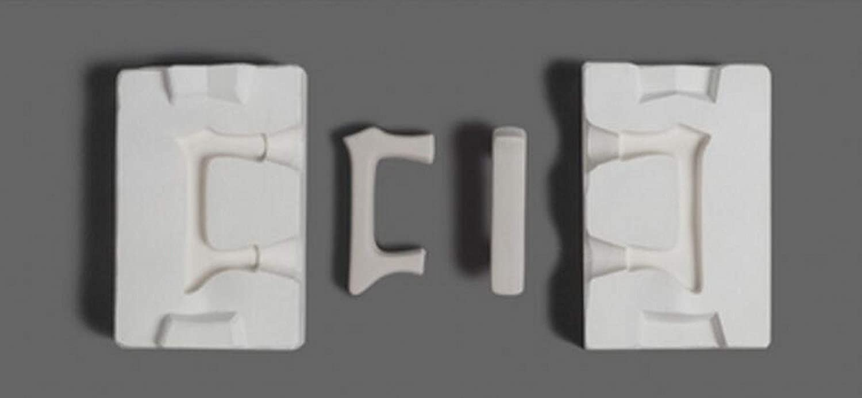 WellieSTR 1 Set Mini 3D Plaster Cup Handle Tea Max Popular products 74% OFF Molds Pot Ceramic