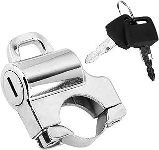 Suuonee Helmet Lock, 22mm Handlebars Universal Motorcycle Helmet Security Lock Padlock with 2 Keys (Electroplate)