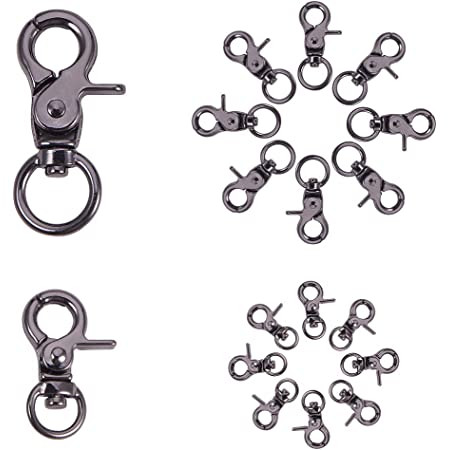 Demeras Metal Swivel Eye Lobster Clasp Durable Stainless Steel Trigger Bolt Snap Trigger Hook for Key Chain for Pet Leash