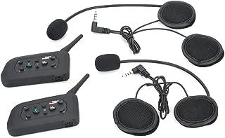 2 x BT Wireless Motorcycle Helmet Interphone Intercom Headsets 1200M (6 Riders)