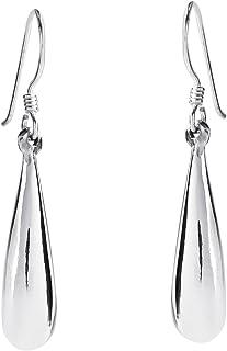 Everyday Rain Drop .925 Sterling Silver Dangle Earrings