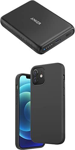 lowest Anker Magnetic Silicone Case, 5.4 inches for iPhone 12 Mini (Dark Gray) Magnetic Wireless Portable Charger, PowerCore wholesale Magnetic 5K Wireless 5,000mAh Power Bank with USB-C online sale Cable sale