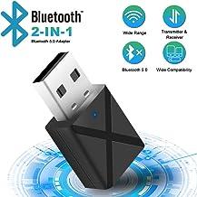 Adaptador Bluetooth 5.0 USB Dongle,2 en 1 Bluetooth
