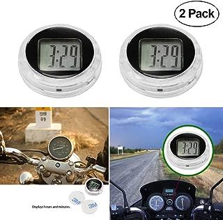 Universal Mini Motorcycle Clock Watch Waterproof Stick-On Motorbike Digital Clock Dia. 1.1