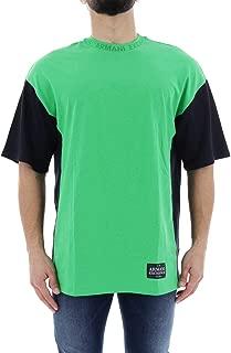 Armani Exchange Men's 3GZM79 Tops, Multicolour (Classic Green W/navy 2870), Large