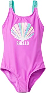 fdcb2626ad Cat & Jack Girls' Sea Shell Fun One Piece Swimsuit