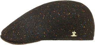 Lierys Coppola Donegal Tweed Uomo - Made in Italy Cappellino Lana Cappello Piatto da con Visiera, Fodera Autunno/Inverno