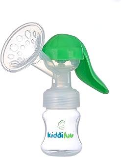 Kiddiluv Manual Breast Pump with Baby Bottle (Single) Portable, Travel Friendly, Handheld Breastfeeding Kit | Hypoallergen...