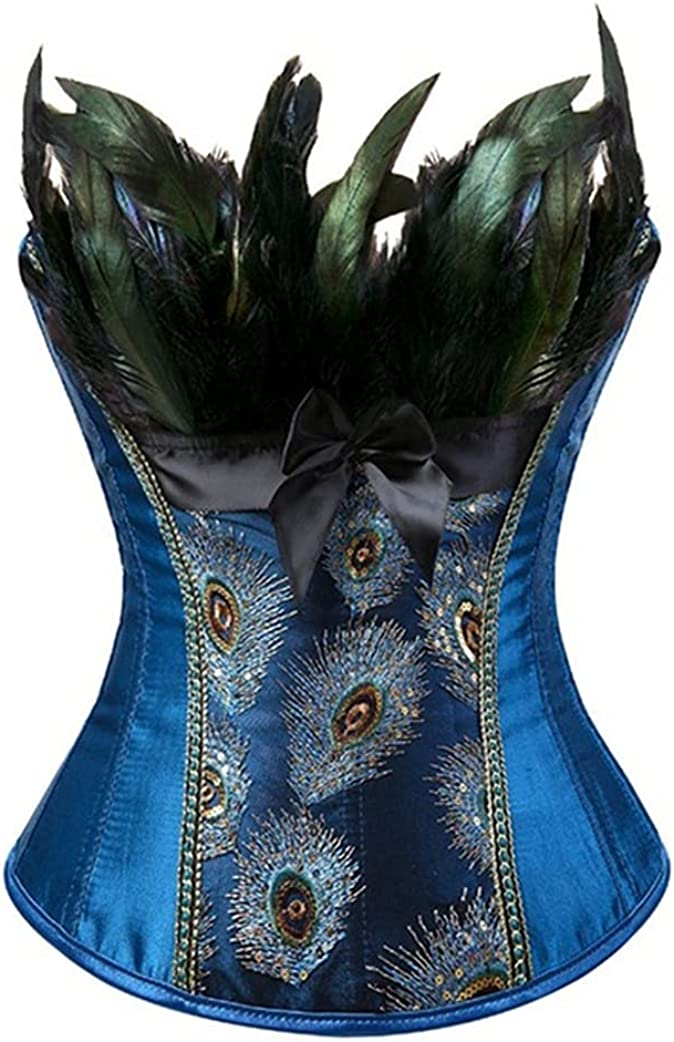 Peacock supreme New mail order Embroidery Princess Bustiers G Overbust Corset Burlesque