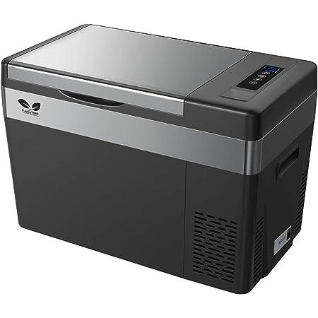 F40C4TMP 車載冷蔵庫 28L -22℃~10℃ 冷蔵冷凍 2電源対応 ポータブル冷蔵庫 12V 24V 100V 静音 ACコード DCコード 取扱説明書付き