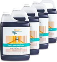 Simply Floors FLC-00023 Lavender Multi-Purpose Floor and Surface Cleaner – [Pack of 4 - 1 gallon bottles] Superior Cleaning, Purple Lavender-Scented Cleaning Solution with 6.0-8.0 pH, Dilution rate from 1:32 to 1:128