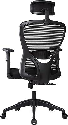 オフィスチェア 人間工学椅子 メッシュデスクチェア ハイバック パソコンチェア 事務学習椅子 ロッキング機能 可動式ヘッドレストとアームレスト360度回転 【安心の一年保証】