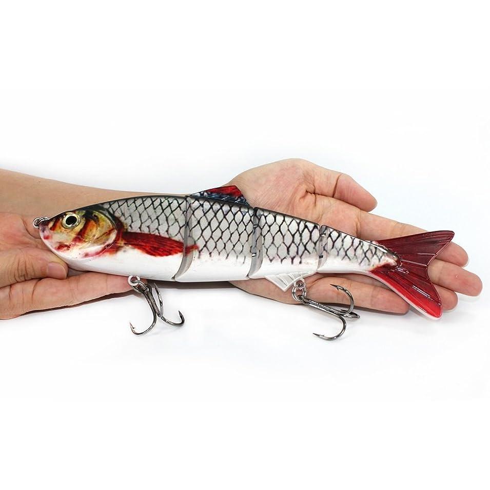数値ご予約クローゼット特大の海釣り用ルアー ジョイントハードルアー22.5cm、145gリアルなルアー、疑似餌 シンキングミノー ベイト 海釣り ダム シーバス、ティラピア、サワラ釣り 大物釣り用ベイト