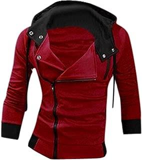 Men's Zipper Hoodie Casual Coat Slim Fit Jacket 8945