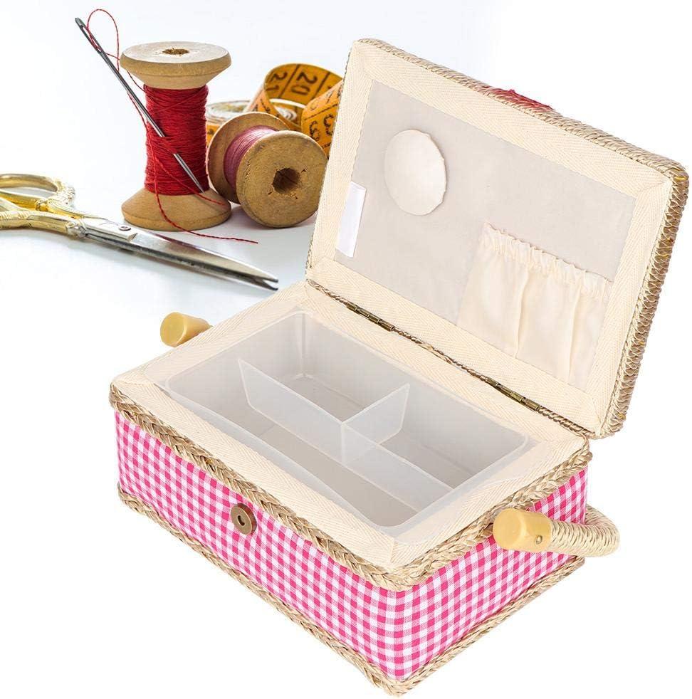 per bottoni a forbice Garden rose Esclusivo cestino da cucito per la casa comodo cestino da cucito
