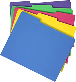 AmazonBasics 3 Tab Heavyweight Manila File Folders, Letter Size, Assorted Colors, 50/Box