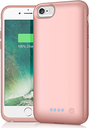 Battery Case for iPhone 6/7/8/6S 6000mAh,Portable Charger Case Protective Battery Pack Charging Cover Case for iPhone...