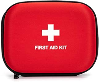 First Aid Hard Case Empty, Jipemtra First Aid Hard Shell Case First Aid EVA Hard Red Medical Case for Home Health First Emergency Responder Empty Camping Outdoors (Red Round)