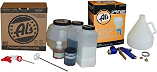 Al's Liner ALS-BLC Black Truck Bed Liner Kit with Free Spray Gun, Adhesion Promoter and Small Mix Paddle (for Rocker Panels-1 Gallon)