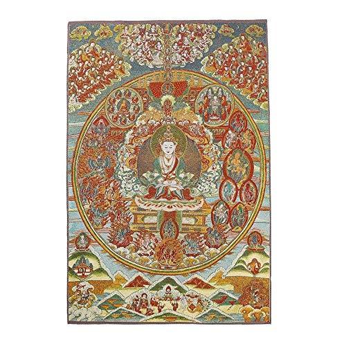 SCDXJ Seidenstickerei Tibetischer Thangka Mit Kashgari Buddha Wandbehang Für Home Décor Thangka Meditation