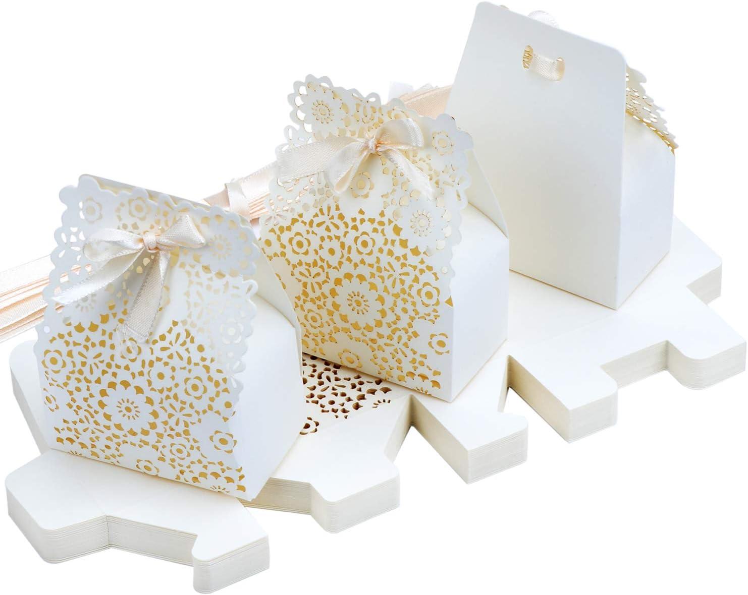 TsunNee Hohle Papier Süßigkeiten Box, Blumen Muster,  Hochzeits Gastgeschenk Boxen, DIY Party Geschenk Box, kreative  Papier Leckerli Boxen, 10 Stück