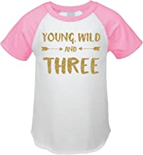 Bump and Beyond Designs Third Birthday Outfit Girl Three Year Old Girl Birthday T-Shirt