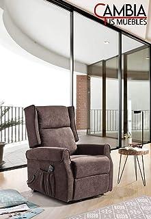 CHANCE FURNITURE Cambia Tus Muebles - Butaca MILÁN, sillón Relax reclinable, Motor eléctrico, Sistema Levanta Personas (marrón)