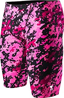 TYR Men's Training Digi All Over Jammer SwimsuitPink (670)38 [並行輸入品]