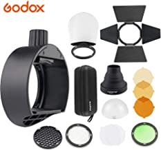 Godox AK-R1 Round Head Accessories Kit & Godox S-R1 Flash Head Adapter | Compatible for Godox V860II TT685 TT600 and Canon Nikon Sony Camera Flash Speedlight