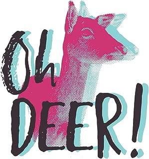 Oh Deer: Neon Retro Deer Journal | 6 x 9 In, 120 Pages (Retro Spirit Animals)