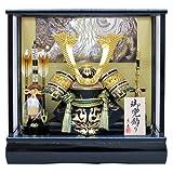 京寿 五月人形 兜飾り ケース入り 木製弓太刀付 間口43×奥行30×高さ41cm 10号中鍬角兜ケース飾り YN51620GKC