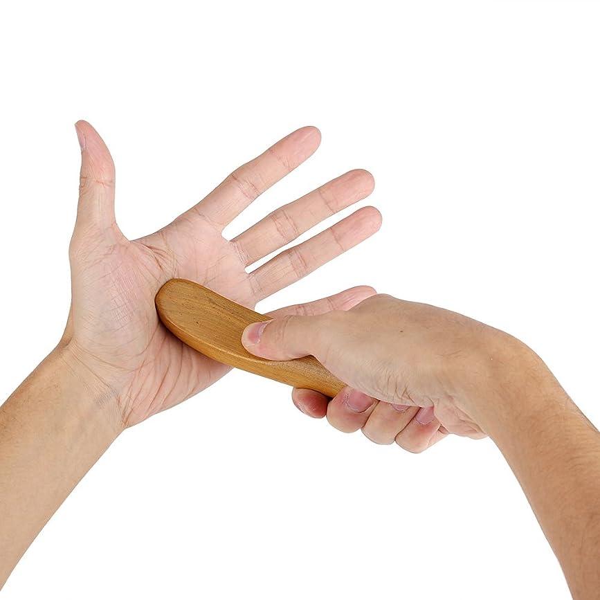 東取り替える蜜香りのよい木指圧ポイント子午線掻き寄せスティックミニフィンガーバックボディマッサージャー