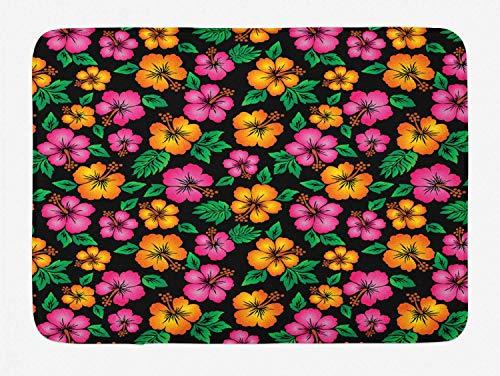 YnimioHOB Alfombra de baño Hawaii, Bouquet Tropical Sketch Style, Jardín Botánico, Tema...