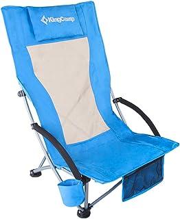 KingCamp アウトドアチェア 折りたたみ ハイバック ローチェア 耐荷重136kg あぐらチェア ロースタイル コンパクト イス キャンプ椅子 お釣り ビーチ 登山 収納バッグ付き