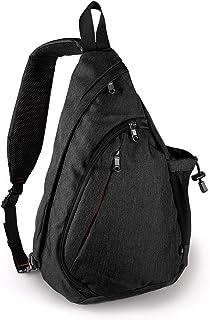 SODIAL Large Capacity Chest Bag For Men Nylon Sling Bag Casual Crossbody Bags For Short Trip(Blue)