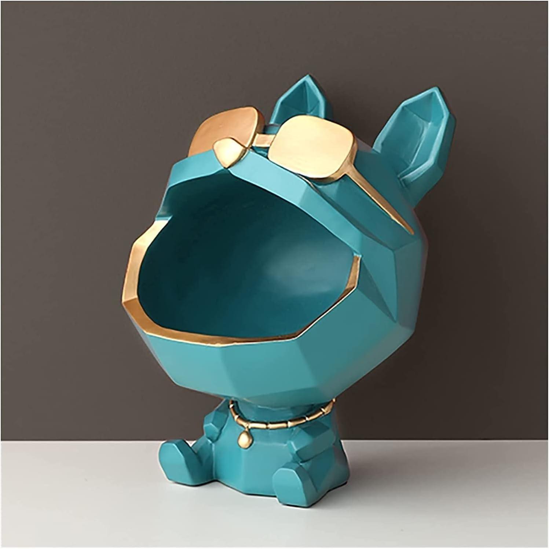 Xinur Cool Dog Figurine Big Mouth Storage Box Resin Key Tucson Mall Very popular Bowl