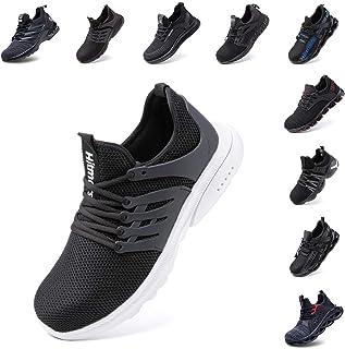 Zapatos de Seguridad Hombre Mujer Zapatillas de Trabajo con Punta de Acero Ligeros Calzado de Industrial y Deportivos Snea...