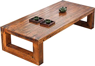 Sitting on a Low Table Tatami Living Room Coffee Side Table Balcony Bay Window Small Coffee Table Bedroom Interior Window Table (Color : Brown, Size : 60 * 40 * 30cm)
