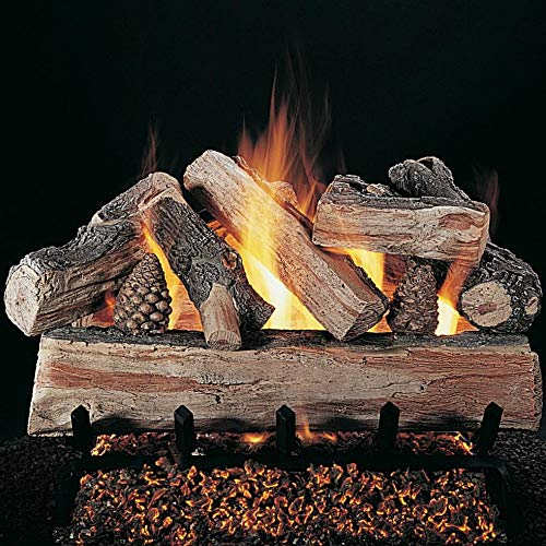 Buy Discount Rasmussen 30-Inch Crossfire Gas Log Set with Vented Valve Vanisher Natural Gas Flaming ...
