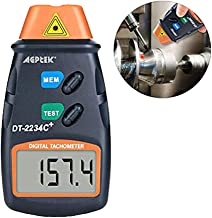 AGPtek® Professional Digital Laser Photo Tachometer Non Contact RPM Tach