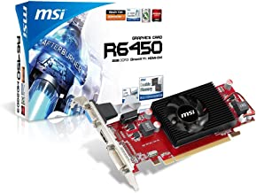MSI AMD Radeon R6450-MD2GD3/LP Video Card - Black/red
