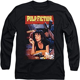 Pulp Fiction Movie Poster Uma Thurman Longsleeve T Shirt & Stickers